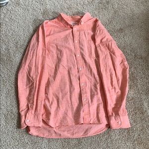 Men's XL Button Up Coral/Salmon Color